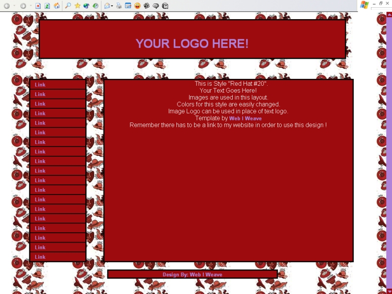 Red Hat #20 Template
