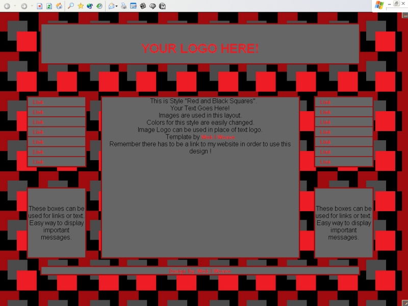 Red and Black Squares Template