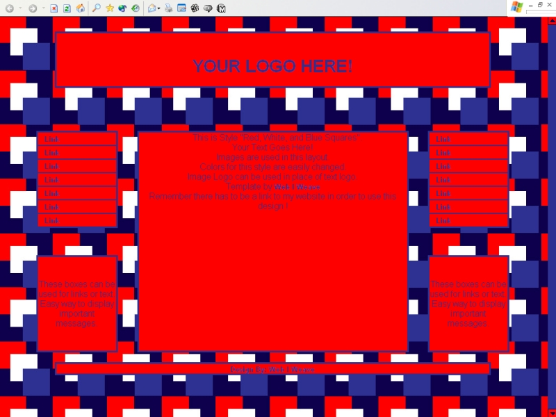 Red, White, and Blue Squares Template